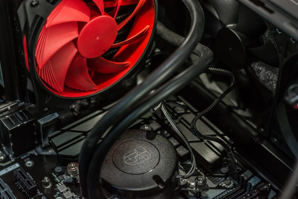 Motherboard and processor cooling fan